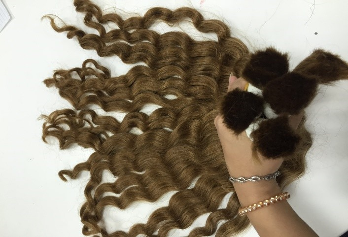 14 Inches Hair Extensions Double Bulk Deep Wavy Thick Wavy Double