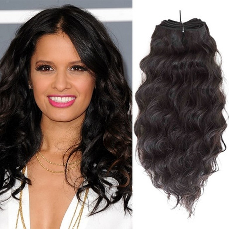 14 Inches Natural Wavy Hair Weave Description
