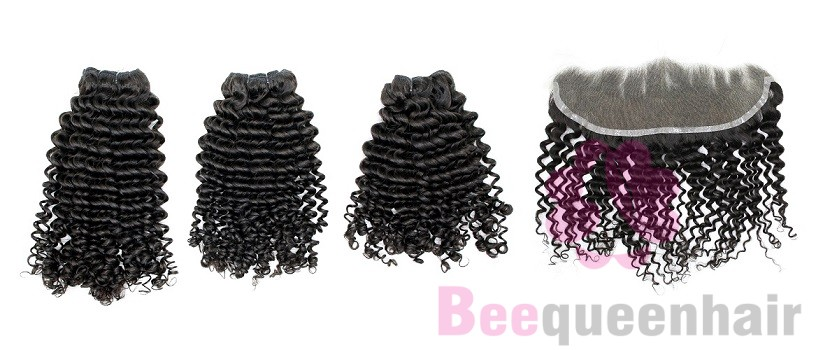 Beequeenhair bundles with frontal
