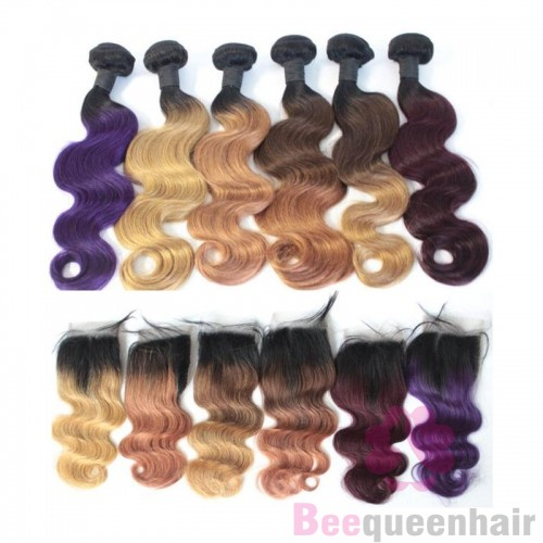 Colored hair bundles