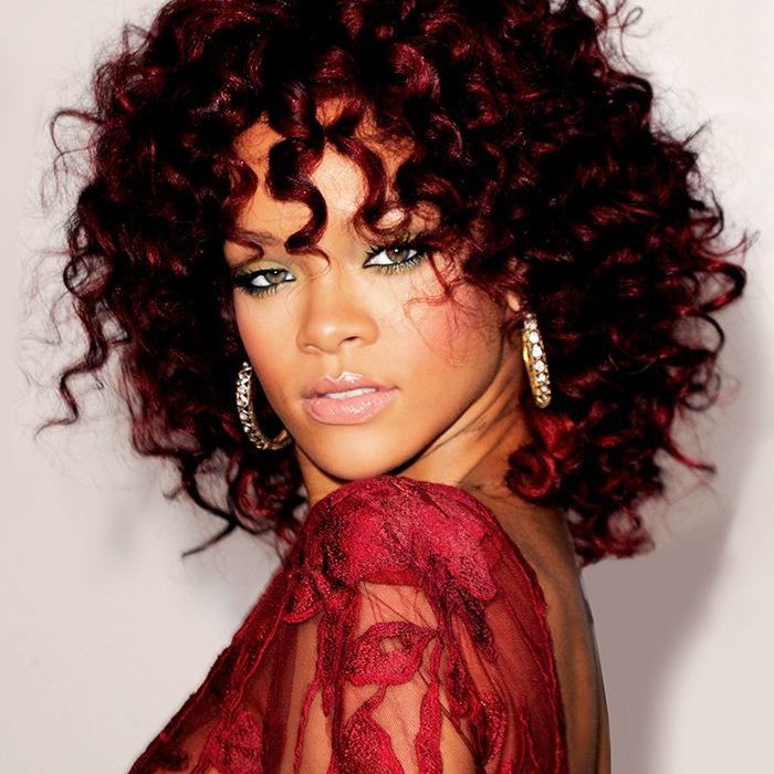 Auburn Red Hair Color For Black Women Rihanna