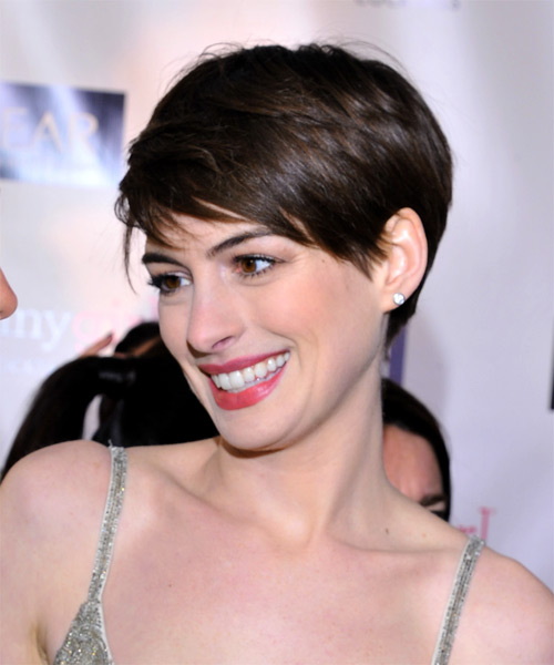 Brunette Pixie Hair
