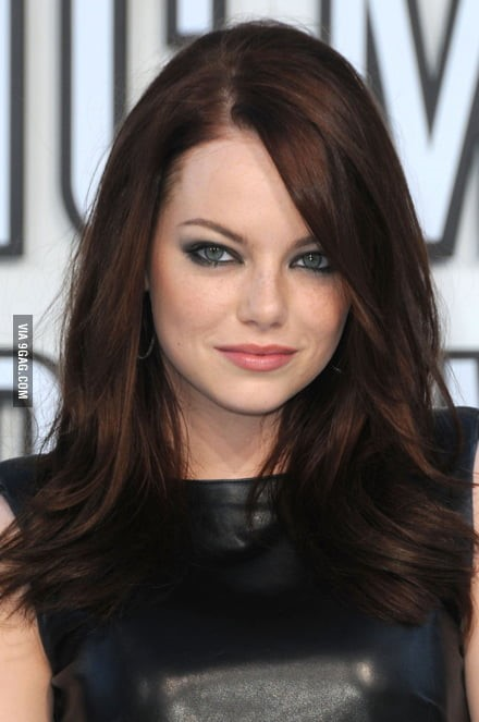 Emma Stone In Brunette Hair Color