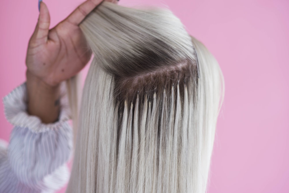 Having Tip Hair Extensions