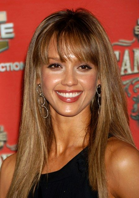 Jessica Alba Hair With Bangs