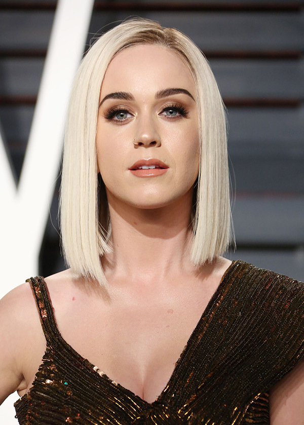 Katy Perry Blonde Blunt Straight Bob