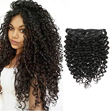 Long Curly Human Hair Extensions