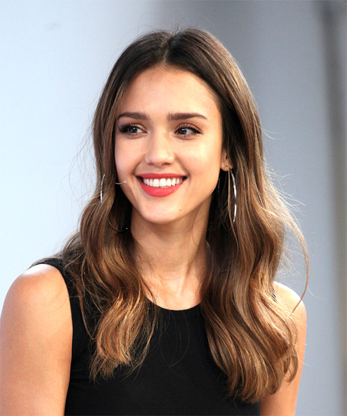 Loose Wavy Long Hair Jessica Alba