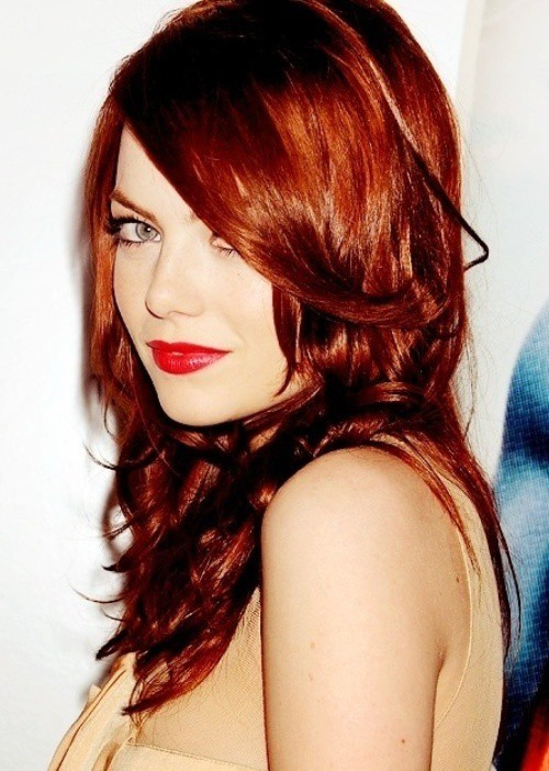 Medium Length With Bright Auburn Red Color