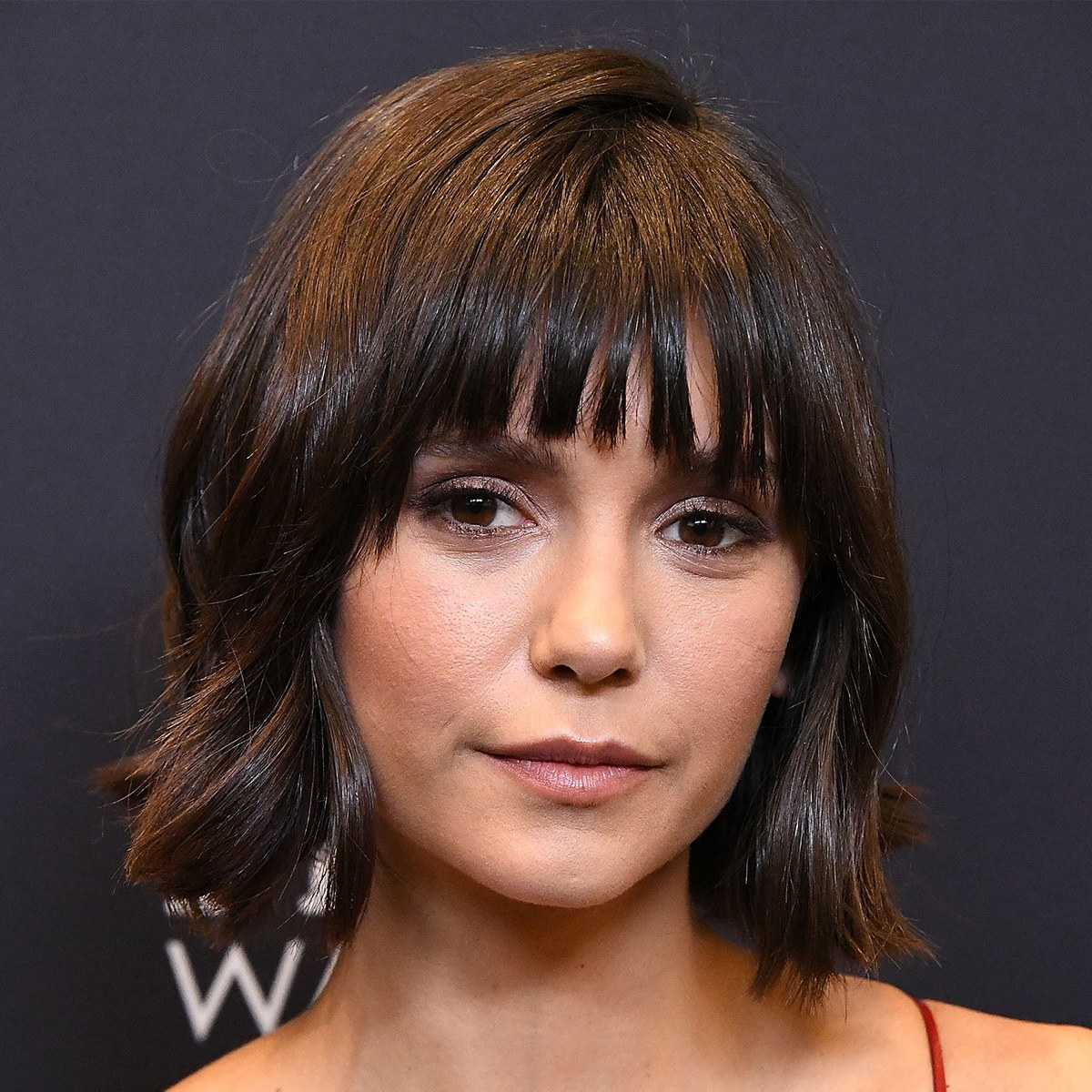 Nina Dobrev- Layered Wavy Short Blunt Cut Bob