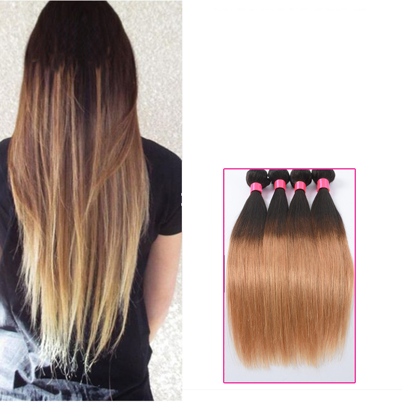 Ombre Long Straight Weave Hair