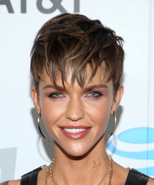 Pixie Cut With Layered Bangs