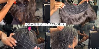 Quick Weave Removal