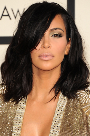 Shoulder Length Black Hair Kim Kardashian
