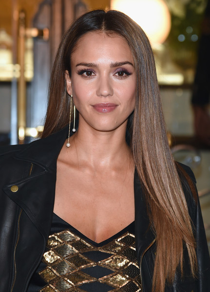 Straight Long Hair Jessica Alba