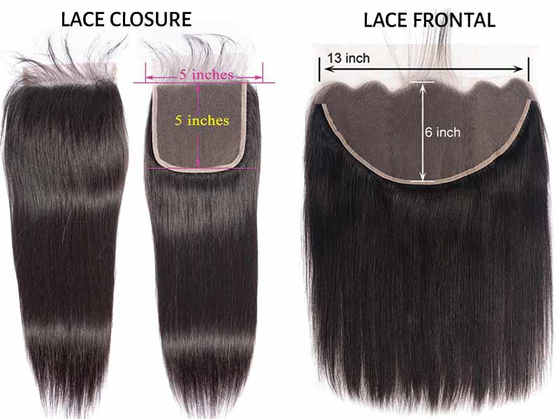 Lace Frontal Vs Closure In Size
