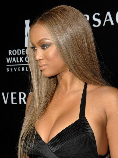 Tyra Banks Ash Blonde Hair