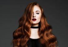 Water Body Wavy Red Long Hair